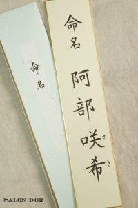 【約2週間のお届け】オーダー命名書(短冊型色紙)(3色展開)