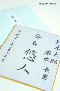 【約2週間でのお届け】オーダー命名書(色紙)(3色展開)