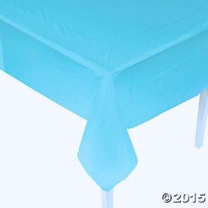画像1: 使い捨てテーブルクロス(水色)