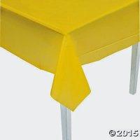 使い捨てテーブルクロス(黄色)