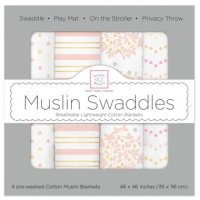【Swaddle Designs】 Heavenly Floral with Shimmer (ピンク4本セット)
