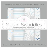 【Swaddle Designs】 Starshine Shimmer (ブルー4本セット)