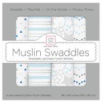 【Swaddle Designs】 Starshine Shimmer (ブルー4本セット)