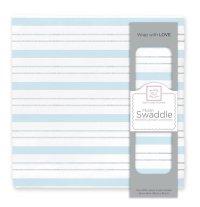 【Swaddle Designs】おくるみ Serenity Stripes with Shimme(ブルーストライプ)(日本正規品)