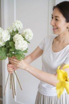 他の写真1: 【造花】スノーボール(ホワイト) 50cm5本セット