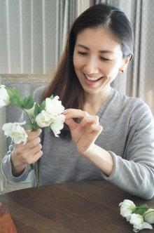 他の写真1: 【造花】フリルクリスマスローズ(ホワイト)27cm10本セット