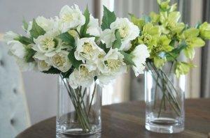 画像4: 【造花】フリルクリスマスローズ(ホワイト)27cm10本セット