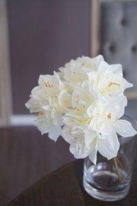 【造花】小ぶりなアマリリス4本(約28cm)