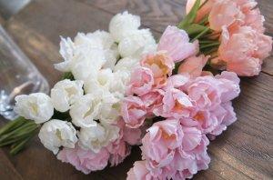 画像3: 【造花】小ぶりなチューリップ(サーモンピンク) 29cm20本セット