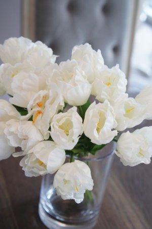 画像2: 【造花】小ぶりなチューリップ(ホワイト) 29cm20本セット