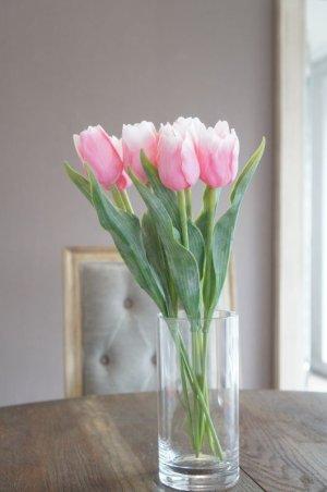 画像1: 【造花】チューリップ(ピンク) 41cm7本セット