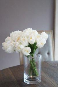 【造花】小ぶりなチューリップ(ホワイト) 29cm20本セット