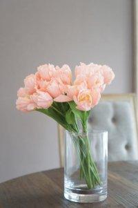 【造花】小ぶりなチューリップ(サーモンピンク) 29cm20本セット