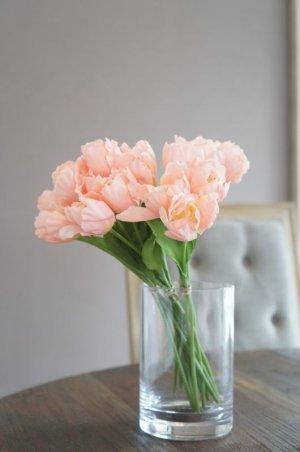 画像1: 【造花】小ぶりなチューリップ(サーモンピンク) 29cm20本セット