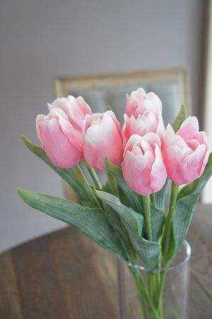 画像2: 【造花】チューリップ(ピンク) 41cm7本セット