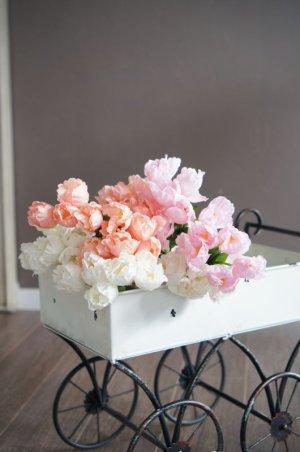 画像5: 【造花】小ぶりなチューリップ(サーモンピンク) 29cm20本セット
