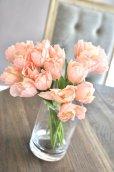 画像2: 【造花】小ぶりなチューリップ(サーモンピンク) 29cm20本セット (2)