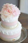 画像5: 【Salon d'or】ラインストーンとパールのダイパーケーキ(おむつケーキ)ピンク