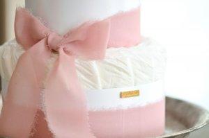 画像2: 【Salon d'or】こだわりブーケのダイパーケーキ(おむつケーキ)ピンク