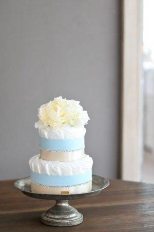 画像2: 【Salon d'or】ラインストーンのダイパーケーキ(おむつケーキ)ブルー