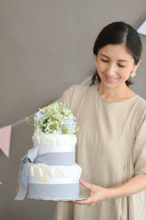 画像2: 【Salon d'or】こだわりブーケのダイパーケーキ(おむつケーキ)イエロー